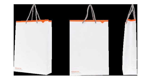 デザイン会社様の紙袋の事例を紹介します【B-08】