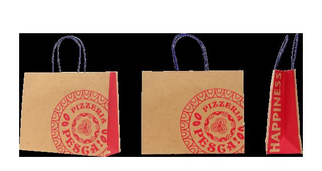 ピザ専門店様の紙袋の事例を紹介します【B-48】