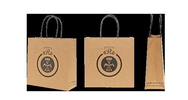 洋菓子店様の紙袋の事例を紹介します【B-116】