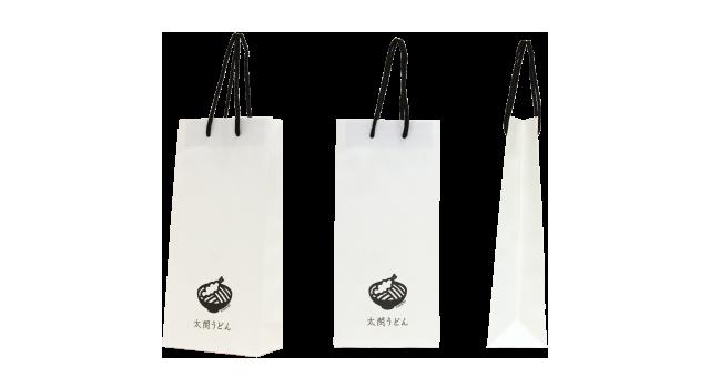 うどん店の紙袋の事例を紹介します【B-111】