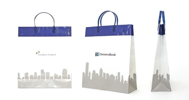 不動産事業会社様の紙袋の事例をご紹介します【B-184】