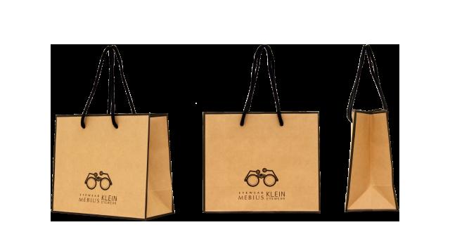 メガネ専門店様の紙袋の事例を紹介します【B-147】