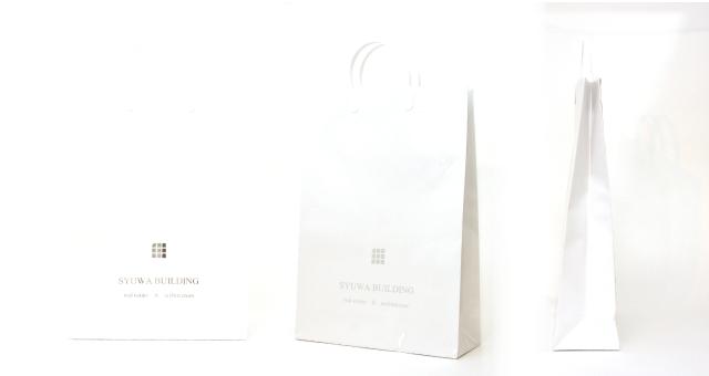建設会社様の紙袋の事例を紹介します【B-201】