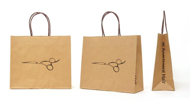 美容院様の紙袋の事例を紹介します【B-205】