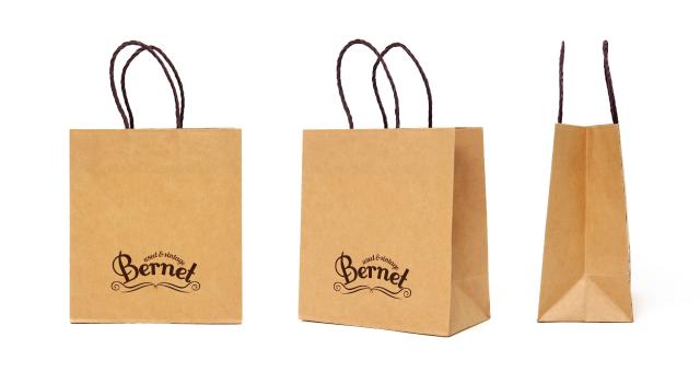 古着屋様の紙袋の事例をご紹介します【B-208】