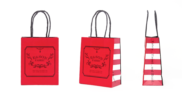 輸入繊維販売店様の紙袋の事例をご紹介します【B-222】