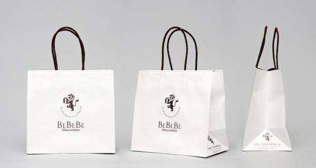 スイーツショップ様の紙袋の事例をご紹介します【B-240】