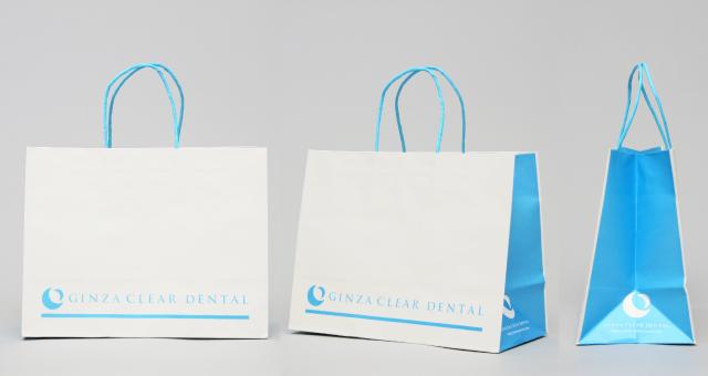 歯科医院様の紙袋の事例をご紹介します【B-268】