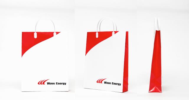 電子機器製造会社様の紙袋の事例をご紹介します【B-271】
