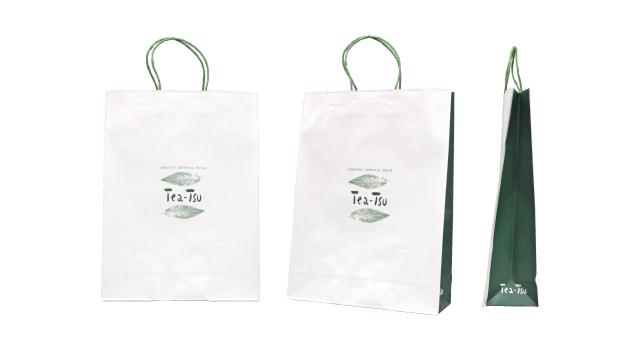 お茶専門店様の紙袋の事例をご紹介します【B-275】