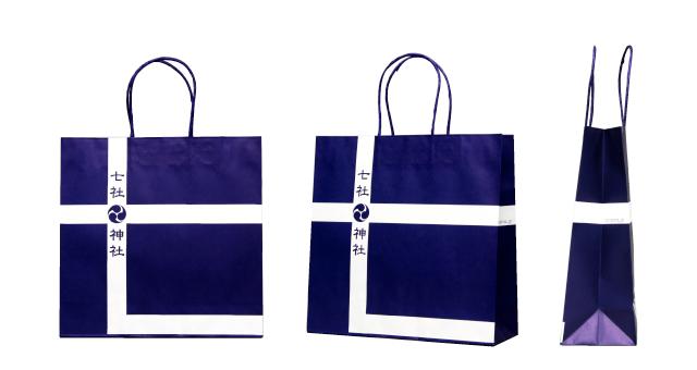 歴史ある神社様のオリジナル紙袋の制作事例