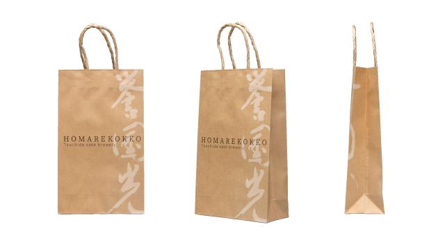 酒造会社様のヌーディーなオリジナル紙袋の制作事例