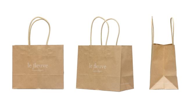 洋菓子店様のシンプルなオリジナル紙袋の制作事例