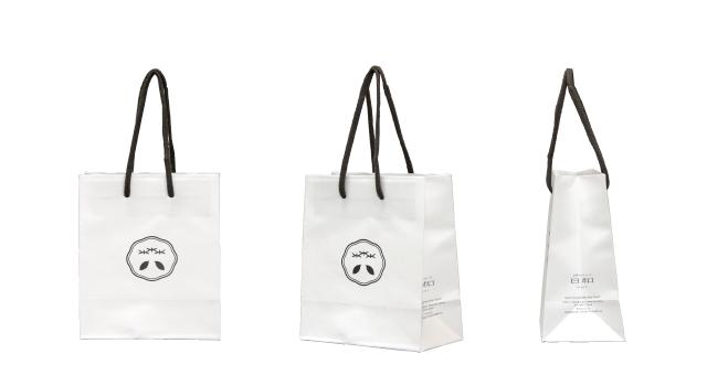 和菓子店様の和モダンなオリジナル紙袋の制作事例