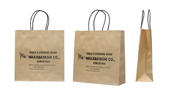 洋食器店様のオリジナル紙袋の制作事例