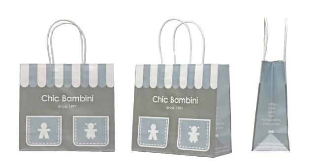 キッズ・ベビー服専門アパレルショップ様のオリジナル紙袋の制作事例