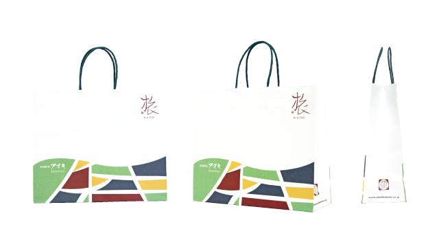 老舗の干物専門店様の遊び心あふれるオリジナル紙袋の制作事例