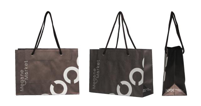 メガネ店様のハイセンスなオリジナル紙袋の制作事例