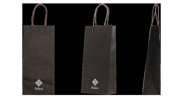 日本酒専門店様の酒瓶用のオリジナル紙袋の制作事例