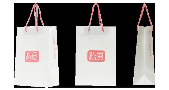 コスメ用品メーカー様のオリジナル紙袋の制作事例