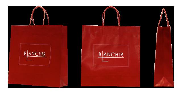 イベントプロモーション会社様の深紅のオリジナル紙袋の制作事例