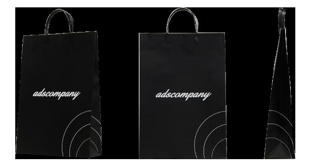 アパレルショップ様の黒一色のシックなオリジナル紙袋の制作事例