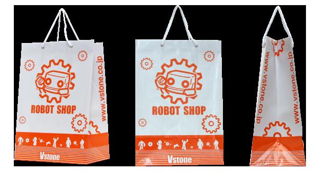 ロボット開発製造販売会社様のオリジナル紙袋の制作事例