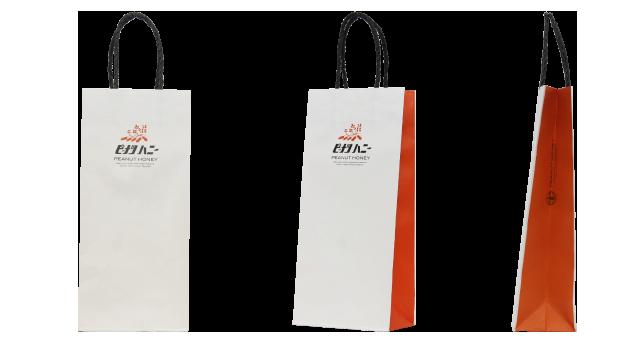 食品メーカー様の縦長ギフト箱用のオリジナル紙袋の制作事例
