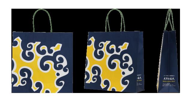 海産物卸売店様のオリジナル紙袋の制作事例