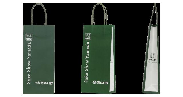 酒販売店様のボトル用のオリジナル紙袋の制作事例