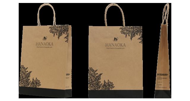 【エコ・ナチュラル系】住宅施工会社様のオリジナル紙袋の制作事例