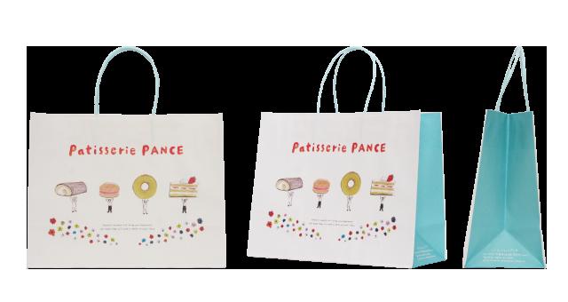 広島県の洋菓子店様のオリジナル紙袋の制作事例