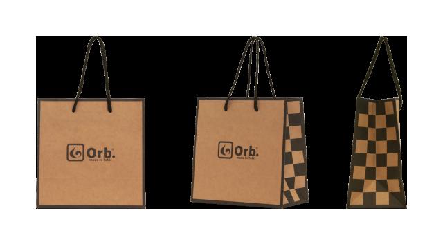 テーブルウェアブランド様の正方形のオリジナル紙袋の制作事例