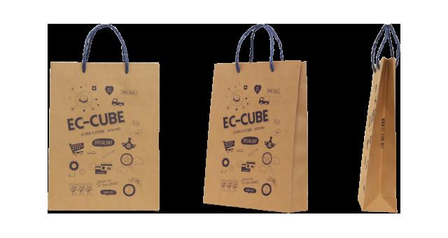 ソフトウェア開発会社様のフレンドリーなオリジナル紙袋の制作事例
