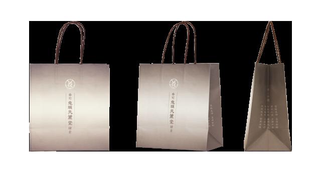 鎌倉市のお香専門店様のオリジナル紙袋の制作事例