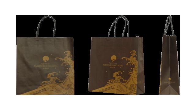 青森県の観光ホテル様のオリジナル紙袋の制作事例