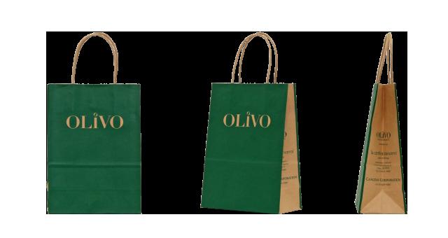 【単価20円台】オリーブオイル専門店様のオリジナル紙袋の制作事例