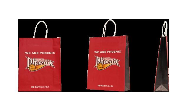 プロバスケットボールチーム様のオリジナル紙袋の制作事例
