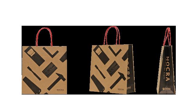 木製クラフトメーカー様のオリジナル紙袋の制作事例