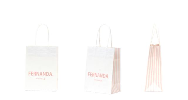 コスメ用品メーカー様の大人かわいいオリジナル紙袋の制作事例