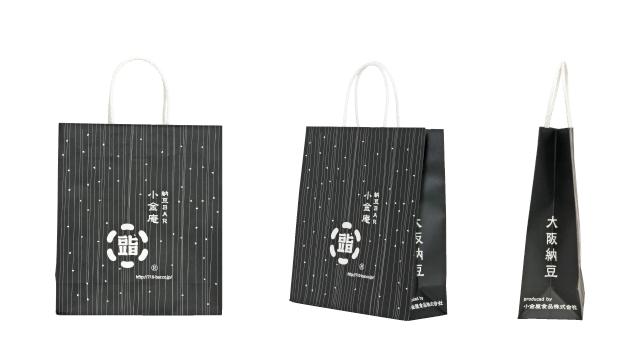 納豆専門店様のオリジナル紙袋の制作事例