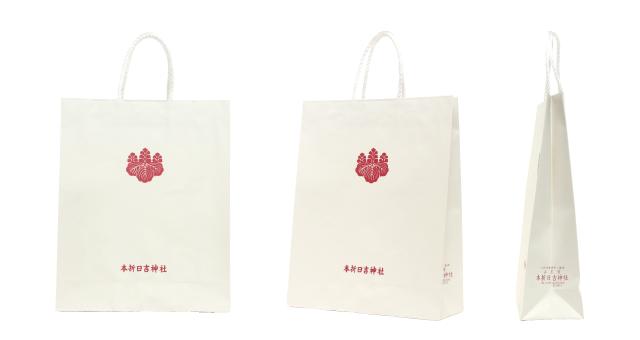 【単価40円台】神社様のシンプルなオリジナル紙袋の制作事例